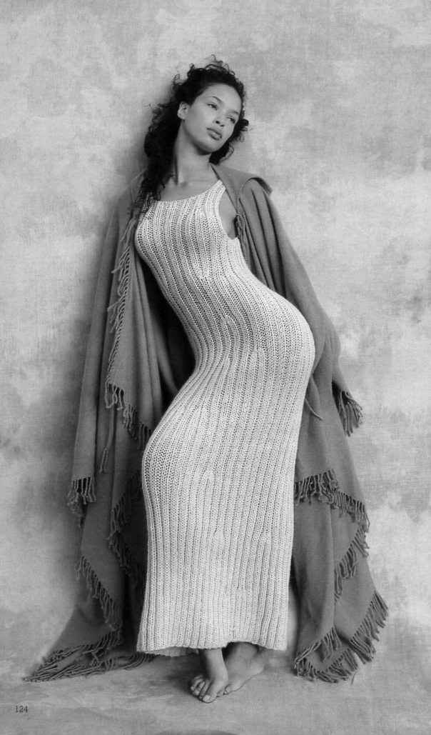 000-babe in knit dress